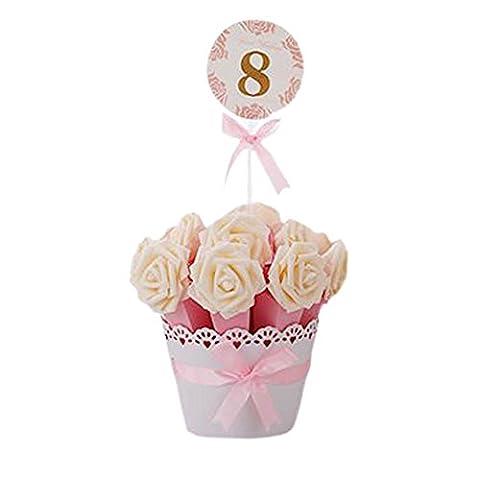 Décoratif Bonbonnière de soirée de mariage Favor Gift Box-Boîte rose foncé + Fleur de Champagne