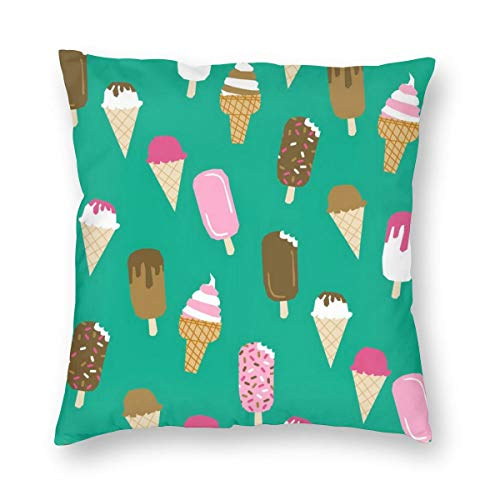 Square Pillow.Ice Creams,Pillow Inserts Square Form Polyester,Standard/Multi-Size. (Hot Box Für Bed Bugs)