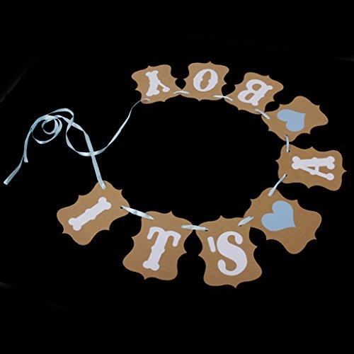 """Leorx Baby Baby-Party-Dekoration Wimpelkette """"It's a boy"""" (Es ist ein Junge)"""