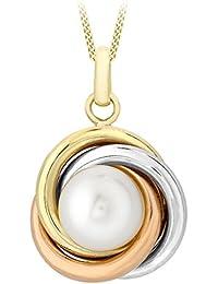 Carissima Gold 3.45.5954 - Collar para mujer con oro tricolor de 9 quilates (375/1000), 46 cm