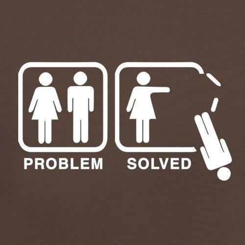 Problem gelöst - Kein Mann - Herren T-Shirt - 13 Farben Schokobraun