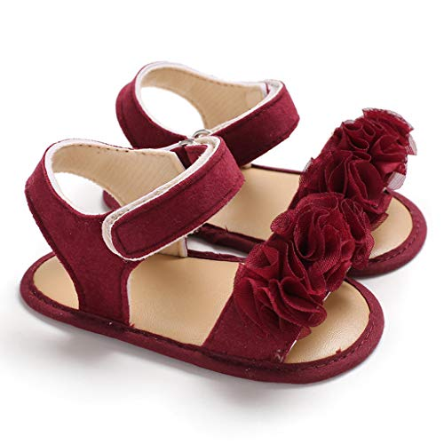 8669175d1206c Sunny ® Baby Girl Sandals, Infant Newborn Baby Girls Applique Prewalker  Soft Sole Single Shoes Sandals,Toddler Shoes,Infant Shoes,Pre Walker ...