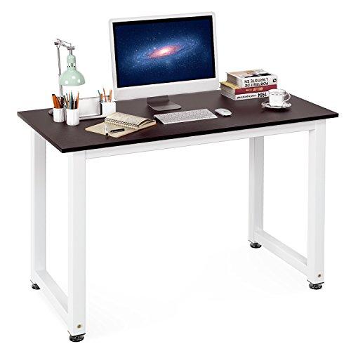Homfa Mesa de Escritorio Mesa de Ordenador Mesa para Comedor Mesa de Recepción de Color Marrón 110x53x74cm