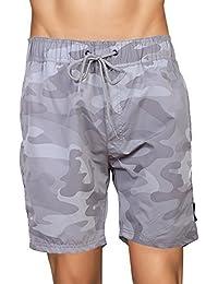 Crosshatch Mens Mesh Lined Swimming Shorts (Large, Camoswim - Light Grey Camo)