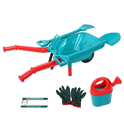 erkzeugsätze, Landschaftsbau Gartenrechen Spielzeug Installationssatz Yard Spiel mit Kleinem Wagen, Berieselungsanlage, Schaufel, Handschuhen, Karte für Kinder ()