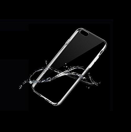 Minto Schutzhülle und Panzerglasfolie für iPhone 7 / iPhone 8 Hülle TPU Case Silikon Crystal Cover Durchsichtig Ultradünn 0.6mm (verkleinerte Folien, aufgrund der Wölbung des Displays) iPhone 6 Plus/ 6S Plus