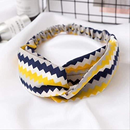 Pmli - fascia per capelli alla moda con stampa bohémien, motivo floreale, turbante elastico, accessorio elegante per capelli, 1 pezzo, 6 pezzi
