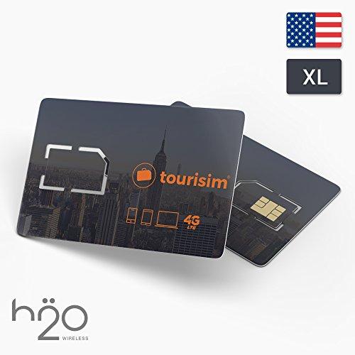 USA Prepaid Sim-Karte | 10GB Datenflatrate LTE | Telefon- und SMS-Flatrate | 30 Tage für USA-Touristen