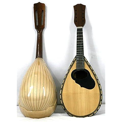 Bordes redondeados para cortar Neapolitan mandolina Musikalia, de listones de arce, dispositivos a presión Mosaic, conjunto de tiradores para diseño de flores de madera incrustaciones de sonido a presión y orificio negro Shield, diapasón-Hecha a