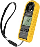 FIXKIT Anemometer with High Precision Pressure Sensor for Wind Speed and Temperature, Portable and Easy for Use