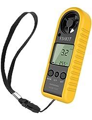 FIXKIT Anemometer mit höhem Präzisionsdrucksensor für Windgeschwindigkeitmessung und Temperaturmessung, tragbar und einfach für die Verwendung