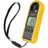 FIXKIT Anemómetro con Alta Precisión del Sensor de Presión de Velocidad del Viento y Temperatura, Portátil y Fácil para Uso