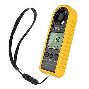 FIXKIT Anémomètre avec Capteur de Pression de Haute Précision pour la Vitesse du Vent et de la Température, Portable et Facile d'Utilisation