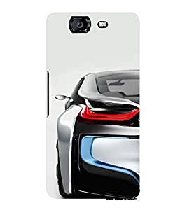 FUSON Sports Car From Back 3D Hard Polycarbonate Designer Back Case Cover for Micromax Canvas Knight A350 :: Micromax A350 Canvas Knight