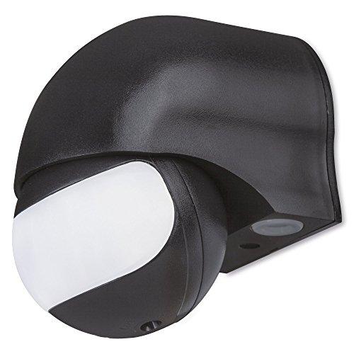 Manax IMS011 Infrarot Bewegungsmelder, Wandmontage, Slim Design, Aufputz, schwenkbar: 180°, IP44, schwarz