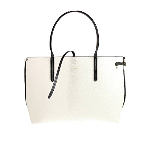 BORSA SHOPPING SIERO DIVISIBILE PINKO ECOPELLE BIANCO