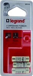 Legrand LEG92925 3 Cartouches Fusibles 16 A 10,3 x 31,5