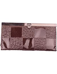 S.K.G. Women's Texture Print Handbag(Two Pockets, Brown)