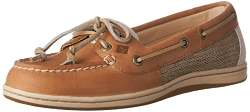 Sperry Top-Sider Firefish Animal Leather Fabric, Sneaker donna beige Beige Linen Oat