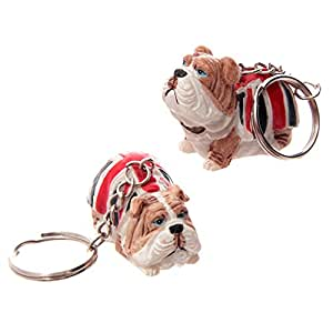 British Bulldog Union Jack Key Ring
