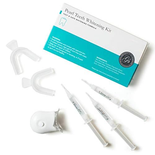 *NEU* Teeth Whitening Kit Zahnaufhellung Zahnweiß-Kit mit blauem LED-Lichtsystem, 3 Gelspritzen, 2 Tabletts, nicht peroxidsicher für empfindlichen Kaugummi