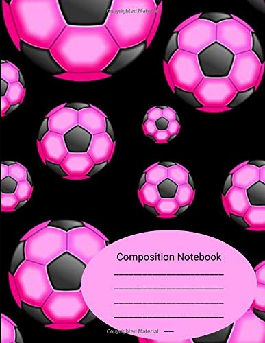 Composition Notebook: Pink Soccer Balls Sports Comp Book por Blanketyblank Journals