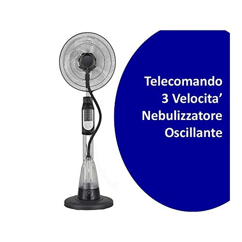 Ventilatore nebulizzatore brio acqua 2,5lt 3 velocita' con telecomando