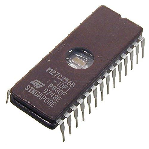 Sunkee 2pcs M27C256B-10F1 256 Kbit (32Kb x 8) UV EPROM IC ST CDIP-28 - Eprom Uv