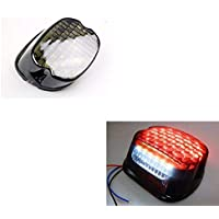 XX ecommerce motocicleta LED integrado luz trasera humo cola freno Luz Perfil Bajo para Harley Dyna