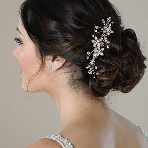Simsly sposa matrimonio pettine diapositive fiore fascia festa nuziale  accessori capelli pezzo per donne e ragazze e32443986cc5