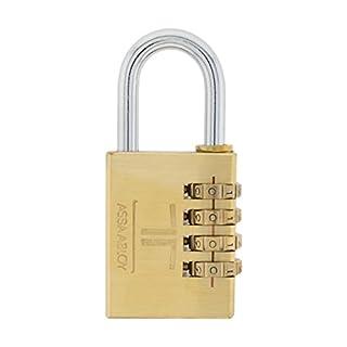 Tesa Combination Brass Padlock, Gold, CPV38LT