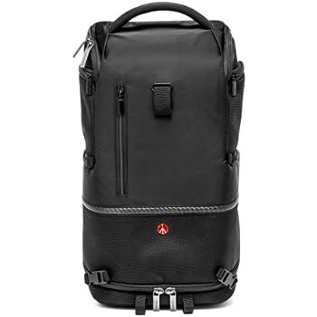 a725248eca Manfrotto MB MA-BP-TM Zaino e Tracolla per Obbiettivi, Reflex e Laptop,  Misura Media, Nero/Antracite