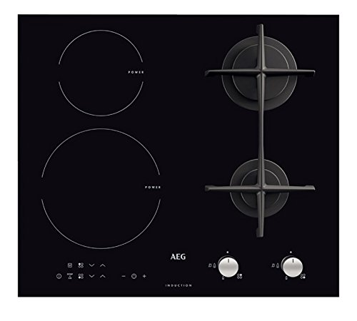 AEG-HD 634170NB - Encimera de cocina mixta a inducción y gas, acabado...