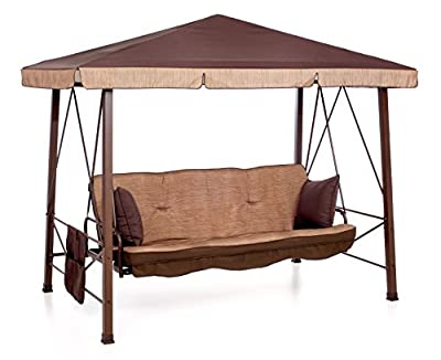 SALMAR - MARTINICA - Pagoda with Canopy Swing 3 seats - Brown -