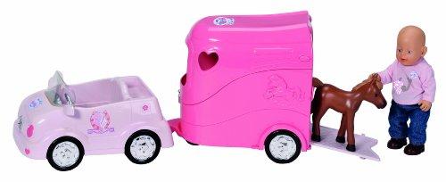 Preisvergleich Produktbild Zapf 808061 - My Mini Baby born Geländewagen und Pferdeanhänger