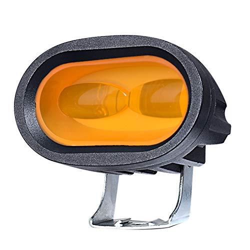 SODIAL 1PZ 6D 20W LED Lavoro Light Bar Auto Driving Fog Spot Light Offroad LED Lampada da Lavoro Veicolo Camion SUV ATV LED Auto Retrofit Styling Ambra