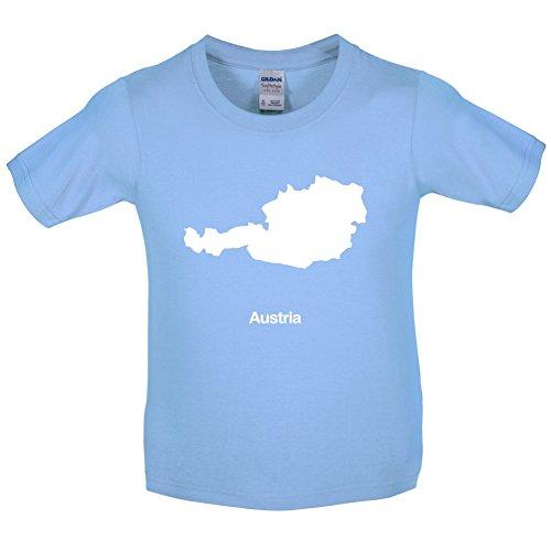 Austria / Österreich Silhouette - Kinder T-Shirt - Hellblau - L (9-11 Jahre)