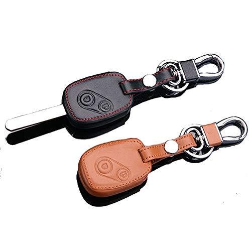 Maiqiken Cas de Couverture de Clé de Voiture en Cuir pour Accord CRV Fit Civic Odyssey City 2 Boutons Télécommande