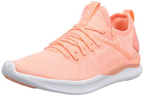 Puma IGNITE Flash evoKNIT Wn's, Damen Laufschuhe, Orange (Bright Peach-Puma White), 38 EU ( UK)