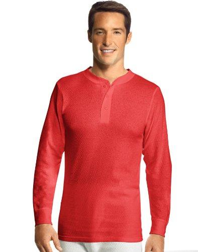 Hanes Men'S X-Temp153 Thermal Henley X-Temp Red 2Xl (Herren Thermal-shirt 2012)