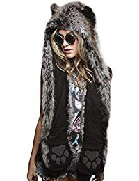 YL Style Cappello da Donna Guanti Sciarpa Set 3 in 1 - Cappello da Donna con 742728d372ed