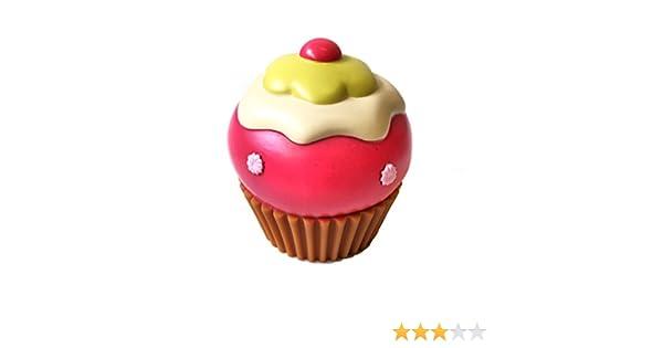 /è Quindi Possibile Svuotare Il salvadanaio Senza romperlo Salvadanaio in Ceramica a Forma di Cupcake Fragola con waffer allinfinito. Comodo Tappo in Gomma sotto la Base