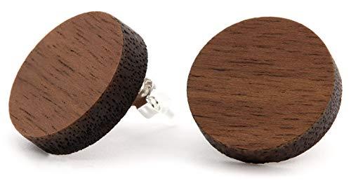 NaturSchatulle Holzschmuck Holzohrringe I Nussbaum I Ohrstecker Holz 925 Sterling Silber I Holz Ohrringe Damen natürlicher Ohrschmuck -