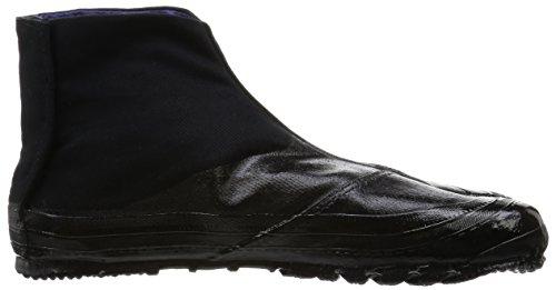 MARUGO Jitsuyou Japanische Tabi Schuhe KOMPLETT Schwarz mit 3 Clips Schwarz