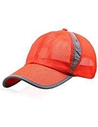 BINGMAX Herren   Damen Basecap Baseball Cap Atmungsaktiv Golf Mesh Snapback  Cap Fitness Laufkappe Schirmmütze 0c8df32dd6