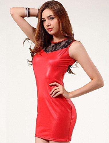 tres-sexy-en-cuir-rouge-faux-pvc-empiecement-en-dentelle-courtes-robe-taille-38-40-erotique