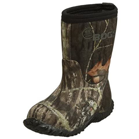 Bogs Classic Mid Mossy Oak Waterproof Insulated Boot (Toddler/Little Kid/Big Kid), Black, 8 M US