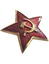 ganwear® Soviétique URSS Armée Russe Militaire Grande étoile rouge ushnaka Badge à épingle Chapeau Béret kokarda