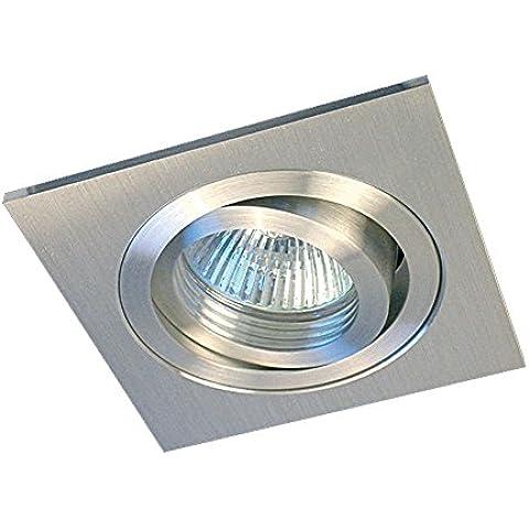 Gumarcris 360ALU - Foco empotrable de Aluminio cuadrado para GU10, color aluminio