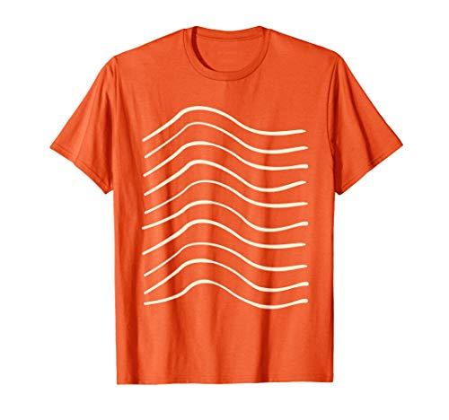 Sushi Kostüm Frauen - Lachs Nigri Sushi Kostüm für Paare - Salmon Meat Stripes T-Shirt